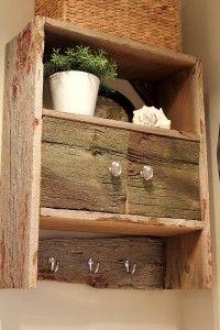DIY Barnwood Bathroom Cabinet - The Creek Line House