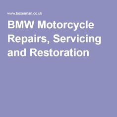 BMW Motorcycle Repairs, Servicing and Restoration