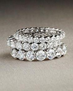 Eternity Diamond Rings #diamondsolitairerings