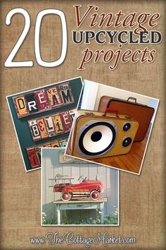 Very nice projects and links to other sites too at Vintage Upcycle Project DIY's Upcycled Crafts, Upcycled Vintage, Diy And Crafts, Arts And Crafts, Diy Projects To Try, Craft Projects, Reuse Recycle, Repurposed Furniture, Furniture Ideas