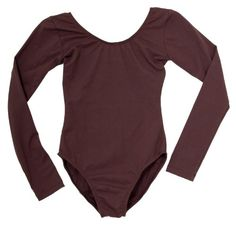 """Child's / Girl's Long Sleeve Brown Leotard by """"American T...…"""