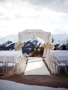 Wedding Venue: 24 Wedding Ceremony Spaces That Make A Magical First Impression. Destination Wedding Inspiration, Destination Wedding Locations, Winter Wedding Destinations, Wedding Photo Albums, Wedding Photos, Wedding Ideas, Wedding Details, Trendy Wedding, Wedding Album