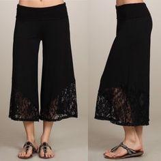 I just added this to my closet on Poshmark: Gaucho BOHO LACE Fold Over Waist Lounge Capri Pant. Price: $42 Size: Various
