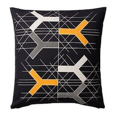 BJÖRNLOKA FIGUR cushion cover, black Length: 50 cm Width: 50 cm