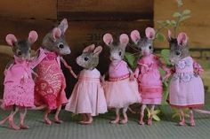 MousesHouses Girls in  Pink