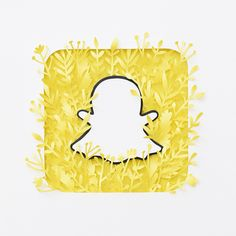 Paper Snapchat Logo on Behance Snapchat Icon, Snapchat Logo, Snapchat Art, Logo Application, Application Telephone, Iphone Wallpaper App, Funny Phone Wallpaper, Logo D'art, App Logo