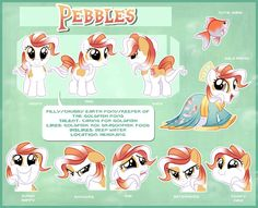 Pebbles Reference Sheet by Centchi on DeviantArt