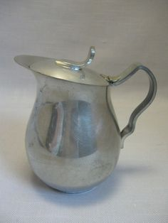 Kirk Stieff Pewter Creamer With Attach  Lid Discontinue 1960