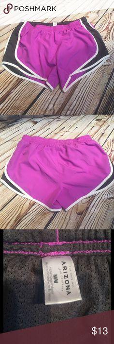 ARIZONA RUNNING SHORTS Gently used running shorts in purple and dark gray Arizona Jean Company Shorts