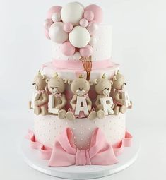 Birthday cakes are one of the most important things of interest in any birthday celebration. A birthday party with no tasty birthday cake will not mak. 1st Birthday Cake For Girls, Baby Birthday Cakes, Sweet Cakes, Cute Cakes, Baby Girl Christening Cake, Torta Baby Shower, Fantasy Cake, Bolo Cake, Drip Cakes