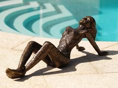 Liggende dame Bronze, Animals, Material, Products, Modern Women, Sculptures, Figurine, Animales, Animaux