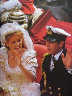 Wedding of Prince Andrew and Sarah Ferguson July 1986 #SarahFergusonAndPrinceAndrew #RoyalWedding1986 #BritishRoyal