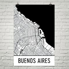 Buenos Aires Argentina Map, Art, Print, Poster, Wall Art From $29.99 - ModernMapArt