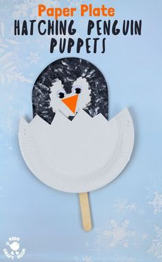 Hatching Penguin Chick Puppets – Crafts on Sea Hatching Penguin Chick Puppets Hatching Paper Plate Penguin Chick Puppets are easy and so cute! This paper plate penguin craft is a fun and interactive Winter craft for toddlers and preschoolers. Winter Crafts For Toddlers, Winter Activities For Kids, Animal Crafts For Kids, Winter Kids, Craft Activities, Polar Animals Preschool Crafts, Winter Preschool Crafts, Kids Crafts, Art Crafts