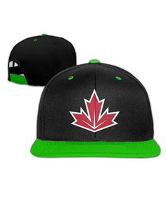 015e907384b KellyGreen 2016 World Cup Of Hockey Team Canada Contrast Color Hip Hop  Baseball Caps Red (
