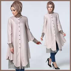 Diesre tunik 2016 Islamic Fashion, Muslim Fashion, Modest Fashion, Fashion Dresses, Hijab Abaya, Hijab Dress, Modele Hijab, Hijab Fashionista, Hijab Style