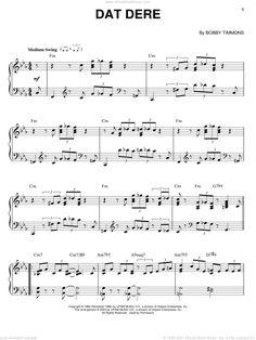 Adderley - Dat Dere sheet music for piano solo [PDF-interactive] Virtual Sheet Music, Jazz Sheet Music, Digital Sheet Music, Jelly Roll Morton, Cannonball Adderley, Complete Music, John Lee Hooker, Jazz Standard, Dere