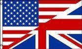 USA UK Friendship 3x5 Foot Polyester Flag by Vista Flags. $7.94. Light Weight, flys beautifully. In stock ships within one business day!. Polyester Fabric. Large 3 foot by 5 foot. Durable. This flag is made of light-weight polyester for durability. It is a large 3 foot by 5 foot flag, and has a reinforced hoist side, with 2 metal grommets.