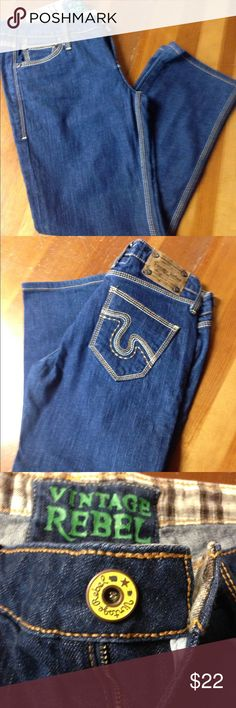 Vintage Rebel Jeans Vintage Rebel jeans size 28. NWOT bootleg/wide leg. Jeans are in perfect condition❗️ Vintage rebel Jeans Boot Cut