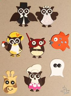 More owl punch ideas using the Stampin' Up! Owl Builder Punch. I could not get this to link back to the source/person who made this and originally posted it...