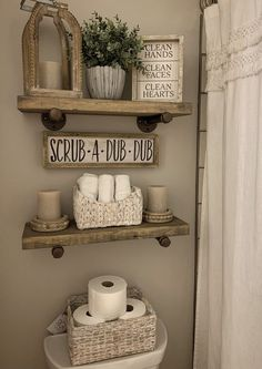 A collection of decor behind the toilet from hobby lobby, home goods, and Kirkland's room decor hobby lobby Bathroom decor Kirkland Home Decor, Bathroom Inspiration, Bathroom Ideas, Brown Bathroom Decor, Small Bathroom, Bathroom Wall Decor, Bathroom Storage, Bathroom Organisation, Decor Room