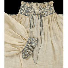 chemise with blackwork England, Mode Renaissance, Renaissance Clothing, Antique Clothing, Upcycled Clothing, 16th Century Clothing, 16th Century Fashion, 17th Century, Historical Costume, Historical Clothing