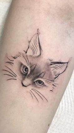 The cat is a beautiful and cute animal, thinking about it selected 97 female tattoos cats! Mini Tattoos, Body Art Tattoos, New Tattoos, Small Tattoos, Tatoos, Silhouette Tattoos, Hase Tattoos, Tattoo Minimaliste, Cat Tattoo Designs