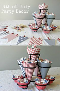 Easy to make Red, White and Blue party decor is perfect for Summer holidays