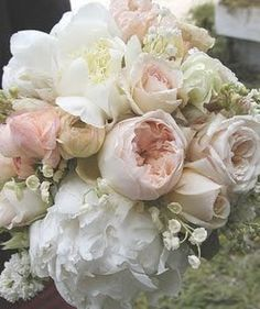 dreamy peony and rose bouquet