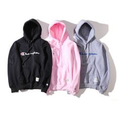 New Champion letters Mens Pullover Hoodie unisex fleece Hoodies Hoody teenagers Cute Lazy Outfits, Trendy Outfits, Cool Outfits, Fashion Outfits, Hoodie Sweatshirts, Sweater Hoodie, Mens Pullover, Champion Clothing, Champion Shoes