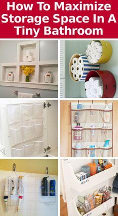 DIY Home Sweet Home: Cómo maximizar el espacio de almacenamiento en un baño pequeño