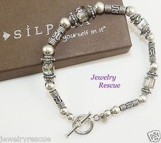 Silpada-Colorful-Crystal-Bracelet-925-Sterling-Silver-7-5-Length-B0912-RARE-d