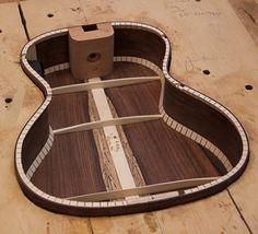 ukulele headstock design | Custom Ukulele Construction, Granadillo Tenor Ukulele-13