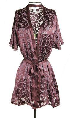 0cd18c8219f Nyteez Women s Silk Burnout Kimono Robe Cover-up at Amazon Women s Clothing  store