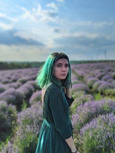 #greenhair #emeraldhair #lavender #greendress #summer2020 #irinelufrommoldova Emerald Hair, Lavender Fields, Green Hair, Green Dress, Archive, Dreadlocks, Hair Styles, Summer, Beauty