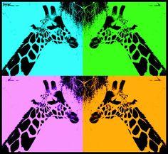 The Giraffe Does Pop Art by TiAmoAmoreMio