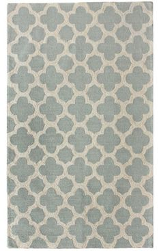 Moroccan Trellis Blue Rug // Bedroom Option