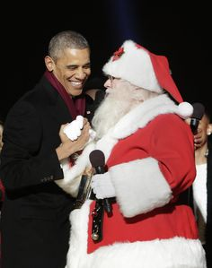 President Obama and Santa