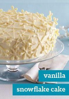 Vanilla Snowflake Cake — This elegant Vanilla Snowflake Cake is ...