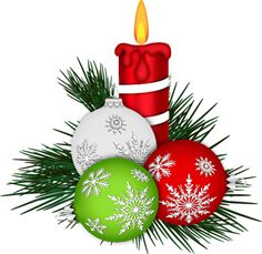 Christmas Candle with beautiful Christmas ornaments Christmas Graphics, Christmas Clipart, Vintage Christmas Cards, Christmas Pictures, Xmas Cards, Christmas Paintings On Canvas, Christmas Canvas, Christmas Art, Christmas Projects