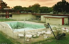 California - Grime: This abandoned pool and lawn furniture in Huntington has see better days