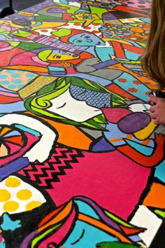 This is a GORGEOUS school mural project by HANDMAKERY.COM