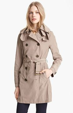 Burberry Brit 'Balmoral' Packable Trench available at #Nordstrom - to purchase in tan or black!?