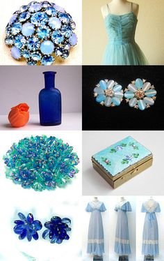 _ SHADES of BLUE_  by Sara H.P. on Etsy--Pinned with TreasuryPin.com