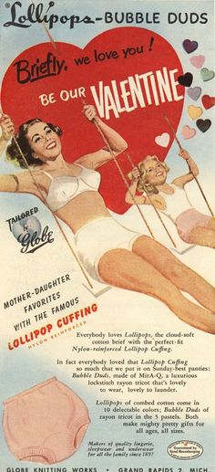 """Mother - Daughter favorites with the Famous Lollipop Cuffing?"" Vintage Advertising Posters 