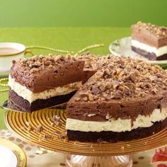 Triple Mousse Torte Recipe from Taste of Home