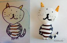 Fraskilandia muñeco personalizado a partir de dibujo de niño