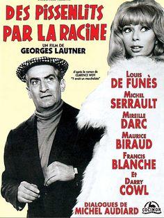Des Pissenlits par la Racine (1964) Stars: Michel Serrault, Maurice Biraud, Louis de Funès ~  Director: Georges Lautner