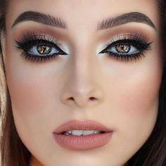 Glam look in neutral brown/beiage shades #evatornadoblog #makeupideas #bestlooks @evatornado Mais