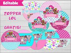 Fiestas Personalizadas Imprimibles: Topper LOL para imprimir Gratis Lol Doll Cake, Doll Party, Topper, Lol Dolls, Kawaii, Funny, Mj, Glitter, Pie Cake